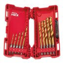 Milwaukee SHOCKWAVE Metallbohrer HSS-G RED HEX Titan 1/4,...